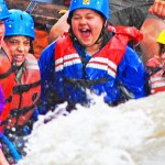 Children love rafting in Colorado. Bighorn Sheep Canyon is a great place to take children rafting near Colorado Springs.