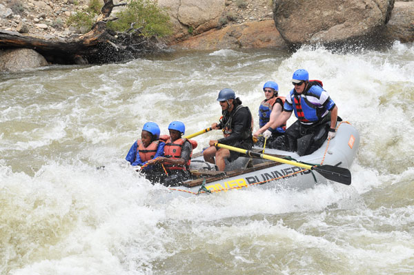 Arkansas River white water rafting in Buena Vista, Colorado Browns Canyon Zoom flume rapid