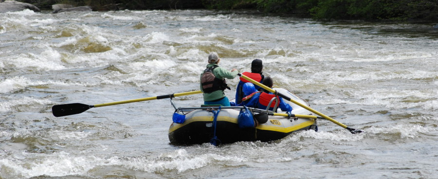 Scenic rafting trips in Colorado.