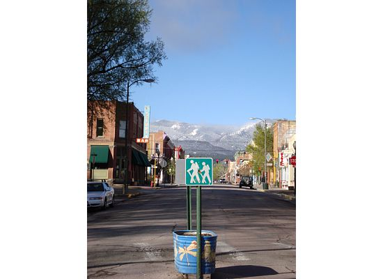 Facing south on F Street in Downtown Salida, Colorado.