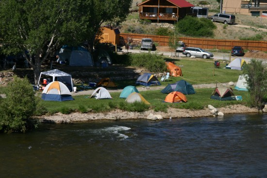 Camping at the River Runners Riverside Rafting Resort in Buena Vista, Colorado.