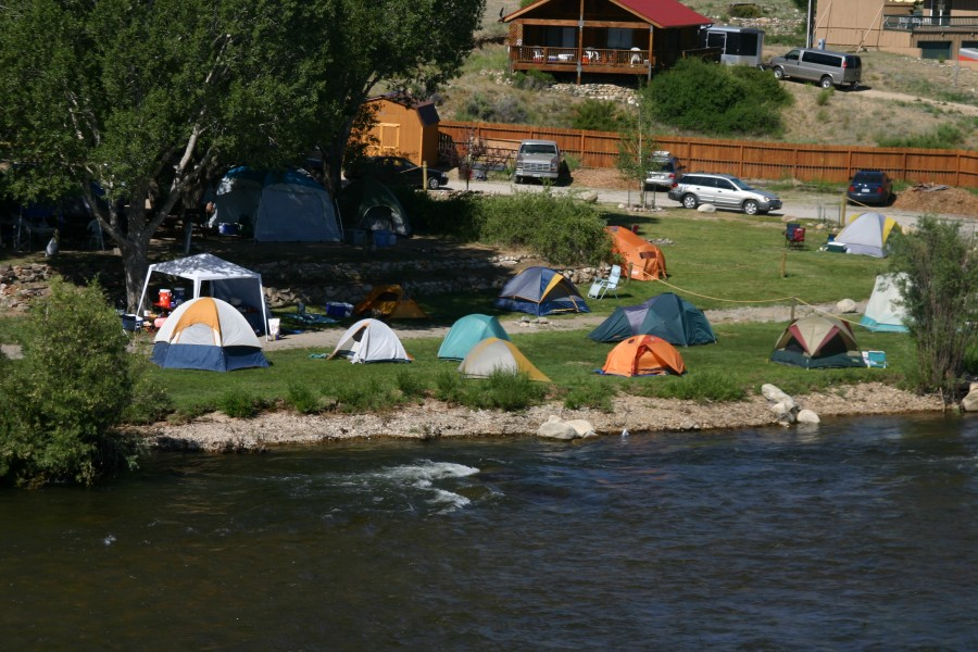 Troop camping at the River Runners Riverside Rafting Resort in Buena Vista, Colorado.