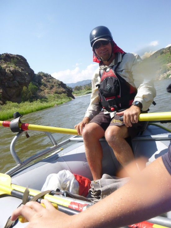 Our fearless river guide Luke Miller.