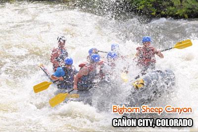 Bighorn Sheep Canyon rafting trips near Canon City, Colorado