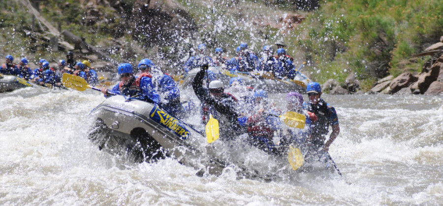 The best time to go whitewater rafting is April - Labor Day.