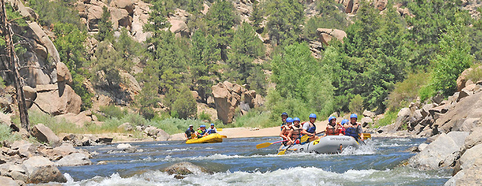 Browns Canyon - Class 3 whitewater rafting near Denver, Colorado