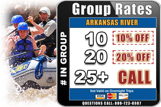 Colorado white water rafting group raTes