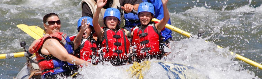 Family River Rafting in Colorado.