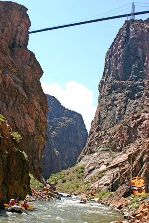 Rafting the Royal Gorge near Colorado Springs, Colorado