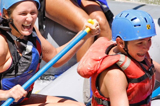 Whitewater rafting with children near Colorado Springs, Colorado
