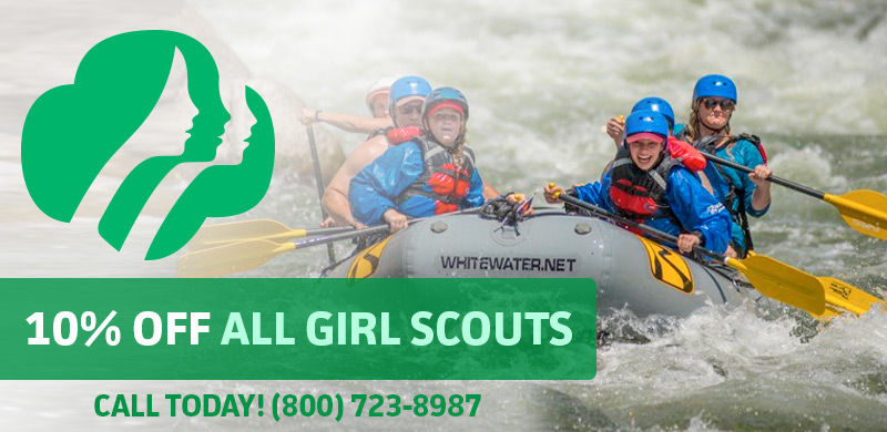 Girl Scout Colorado Rafting Discount