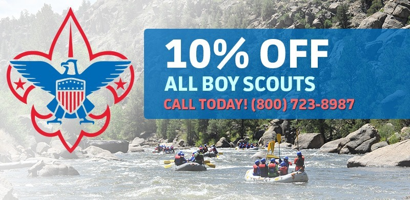 Boy Scout Colorado Rafting Discount