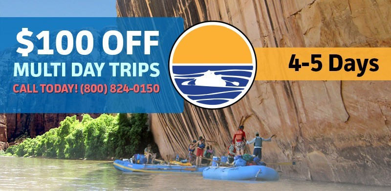 Multi Day Discount for Utah Whitewater Rafting Trips.