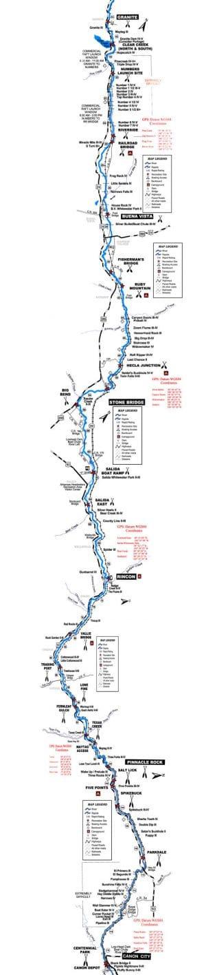 Map of the Upper Arkansas River.
