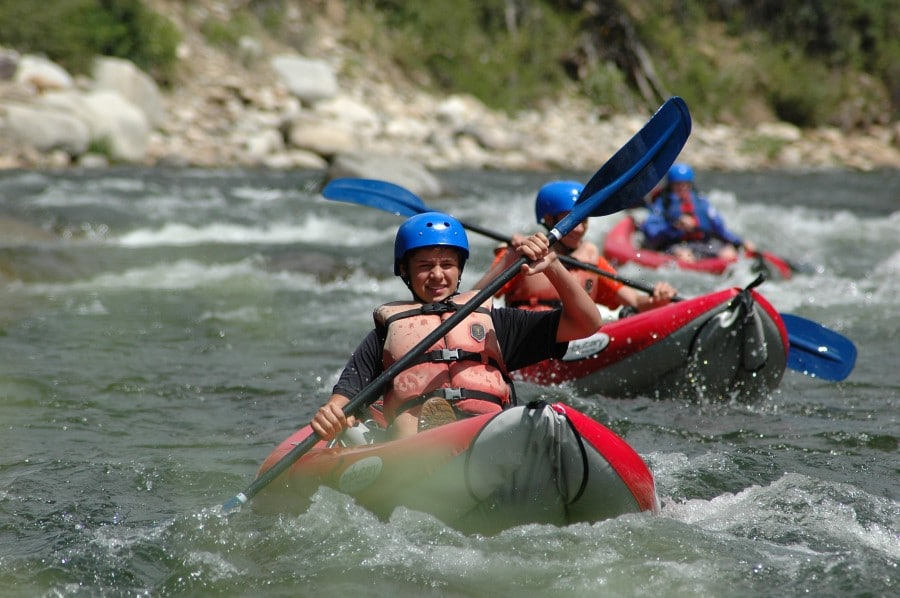 Guided kayaking trips in Colorado.