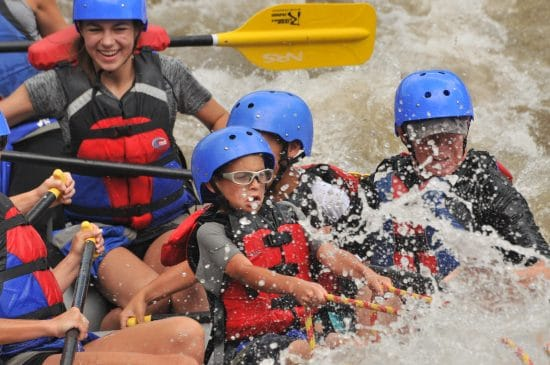 Colorado whitewater rafting for kids.
