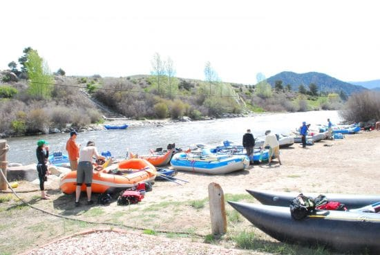 River Runners put-in for Browns Canyon.