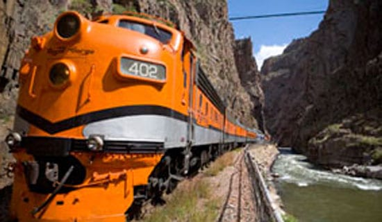 Railway through the Royal Gorge.